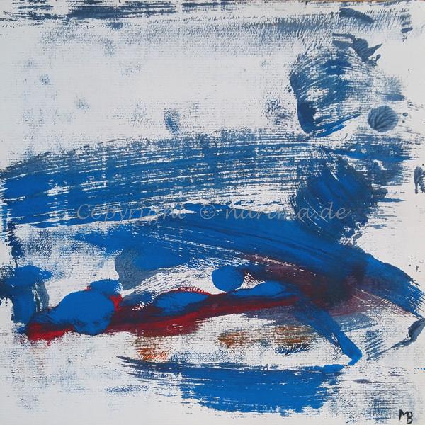 0012 - Titel: Rot zählt - 2019 - Original: Acryl auf Papier - ca. 30 x 30 cm