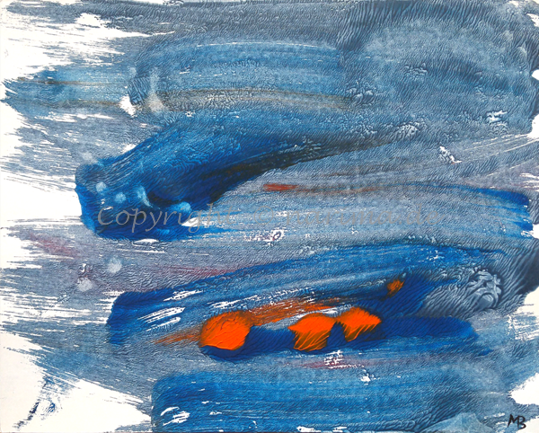 0014 - Titel: Rot zählt - 2019 - Original: Acryl auf Papier - ca. 30 x 40 cm