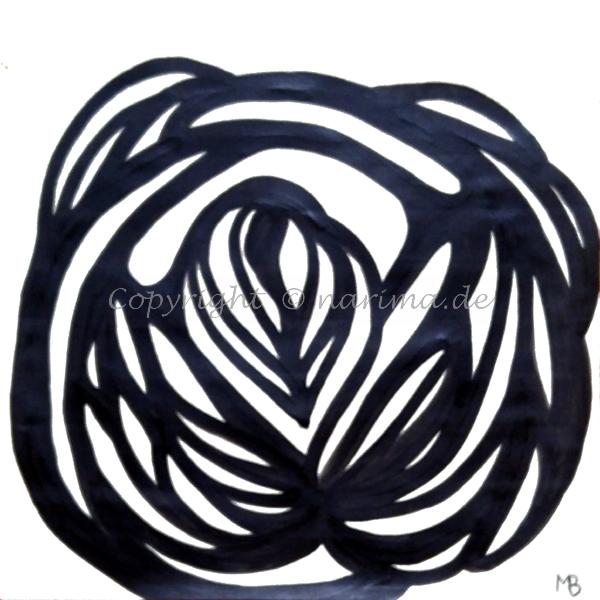 017 - Erblüht- 2019 - Original: Acryl auf Papier - ca. 30 x 30 cm