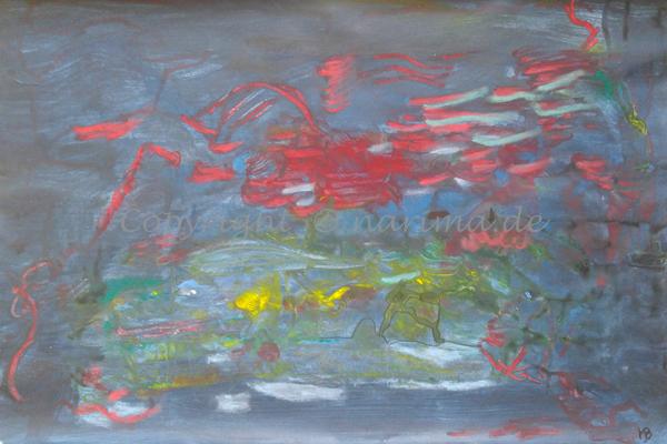 024 - Titel: Kämpfer - 2019/09 - Original: Acryl auf Papier - ca. 40 x 60 cm