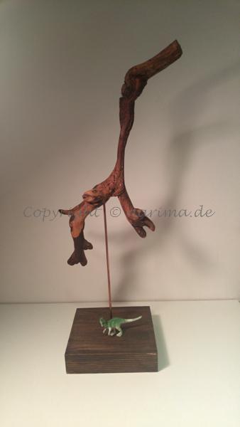 mb013 - Skulptur - 2019 - Material: Holz, Stein