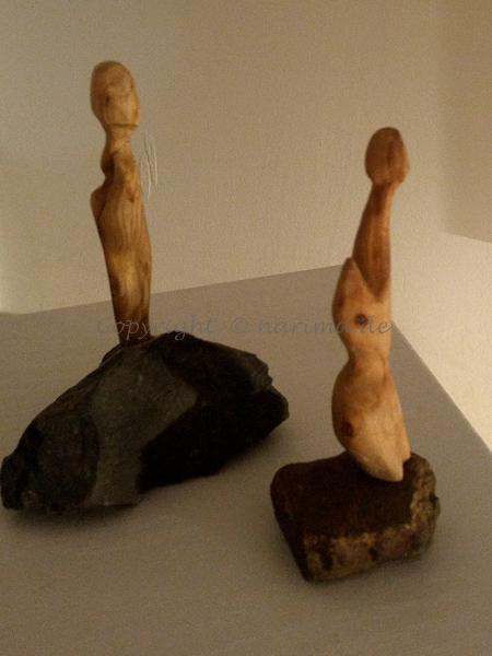 mb011 - Skulpturen - 2019 - Holz, Stein