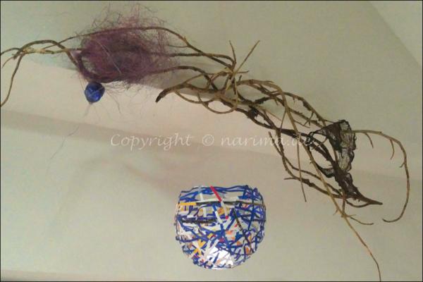 20210105 Collage - Papierobjekt - Installation